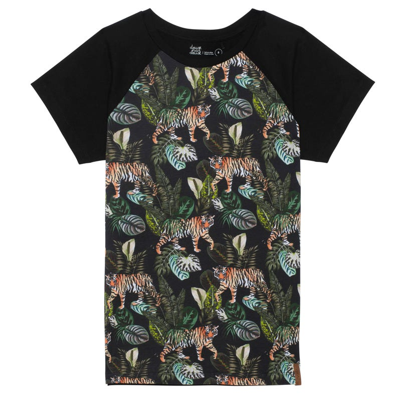 T-Shirt Raglan Tigre 3-6ans