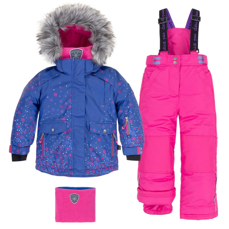 Flower Snowsuit 7-10