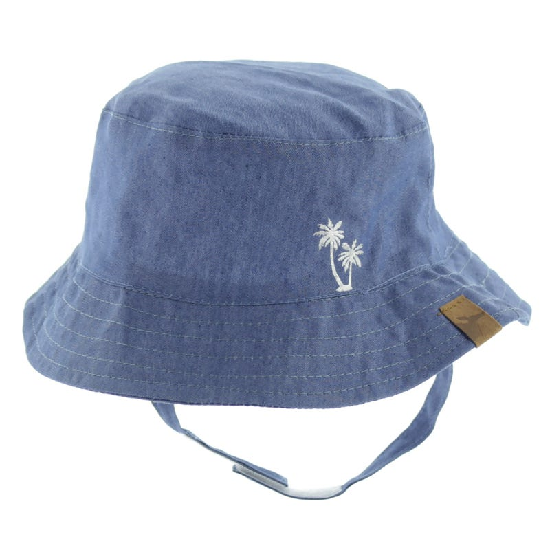 Chambray Palms Hat 3-24m
