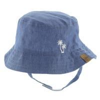 Chambray Palms Hat 3-24m