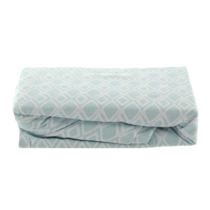 Flannel Fitted Sheet - Blue Diamond