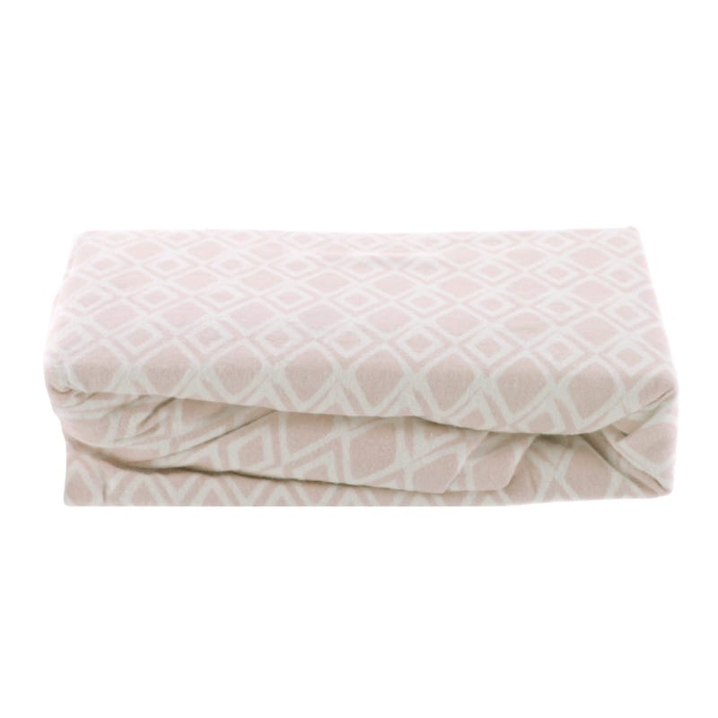 Flannel Fitted Sheet - Pink Diamond