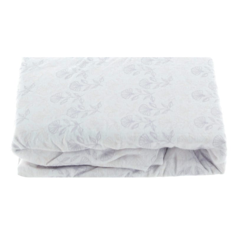 Fitted Sheet Flan Flowers Pink