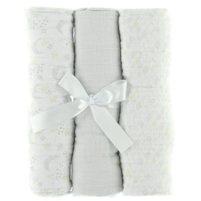 Muslin Blankets Setof 3- Gray