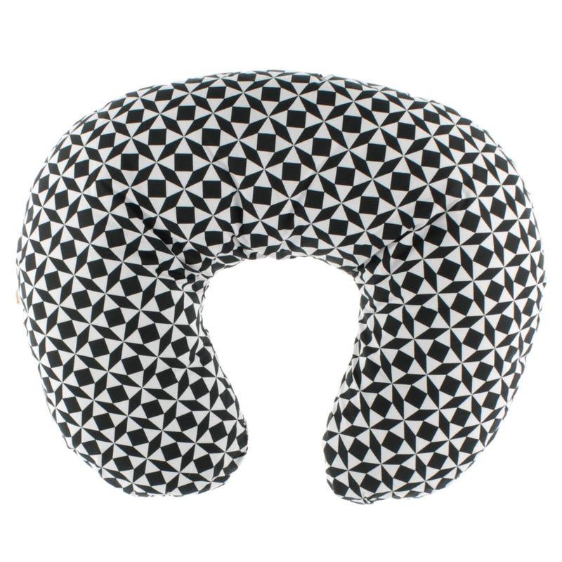 Coussin d'Allaitement - Carré Noir et Blanc