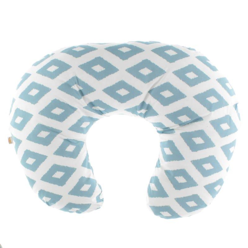 Square Nursing Pillow - Denim/White