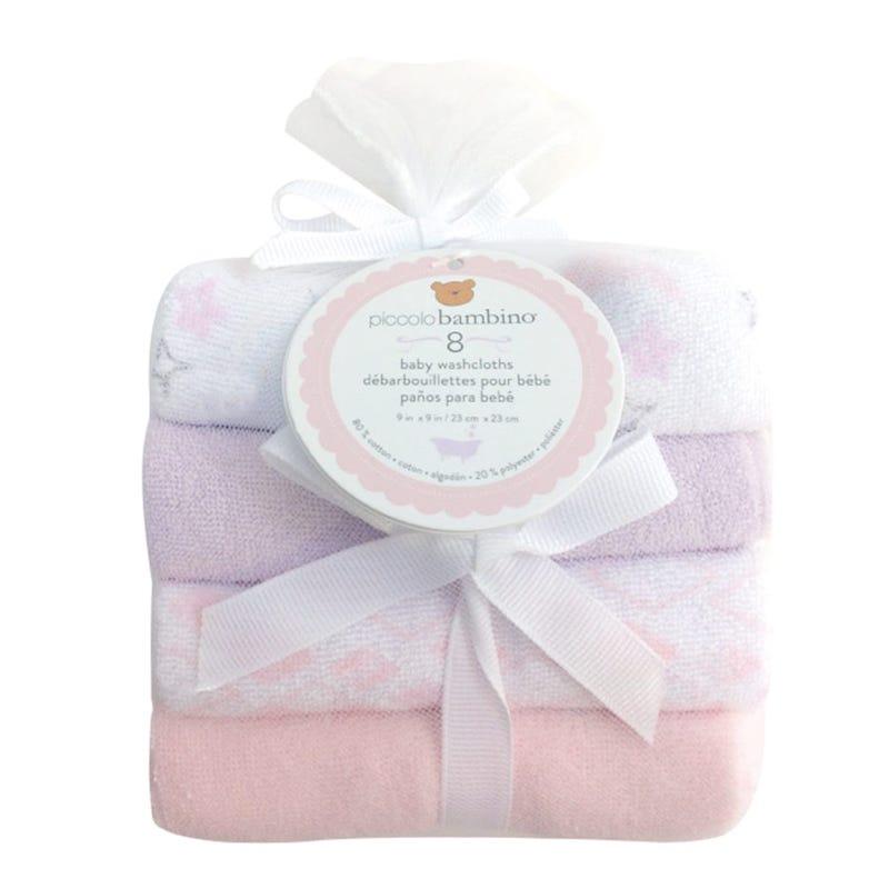 Washcloths Set of8- Pink