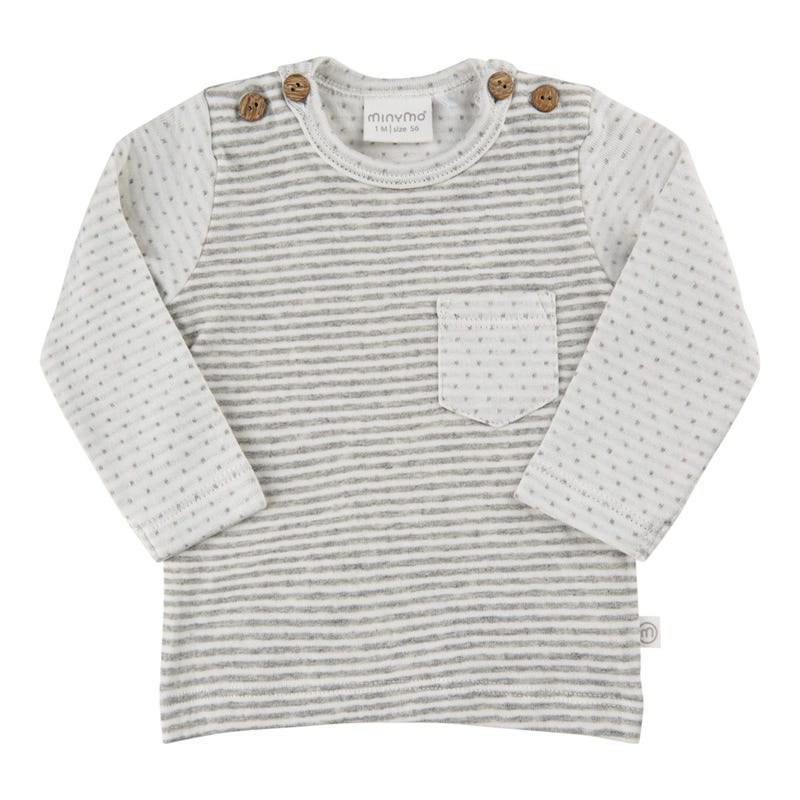 T-Shirt Rayé Panda 1-18m