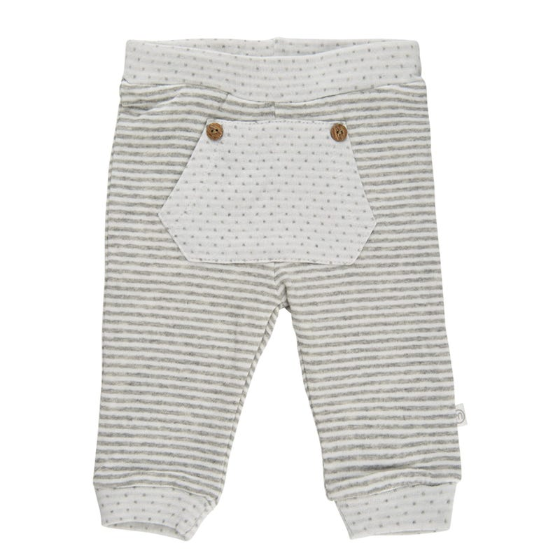 Panda Striped Pants 0-18m