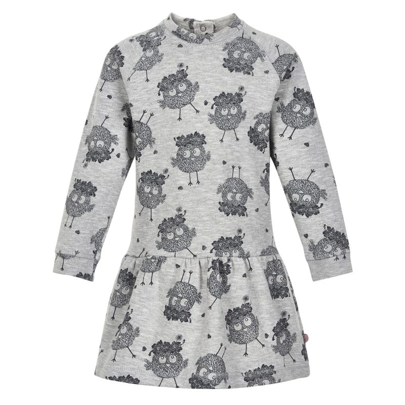 Bird Pattern Dress 3-6