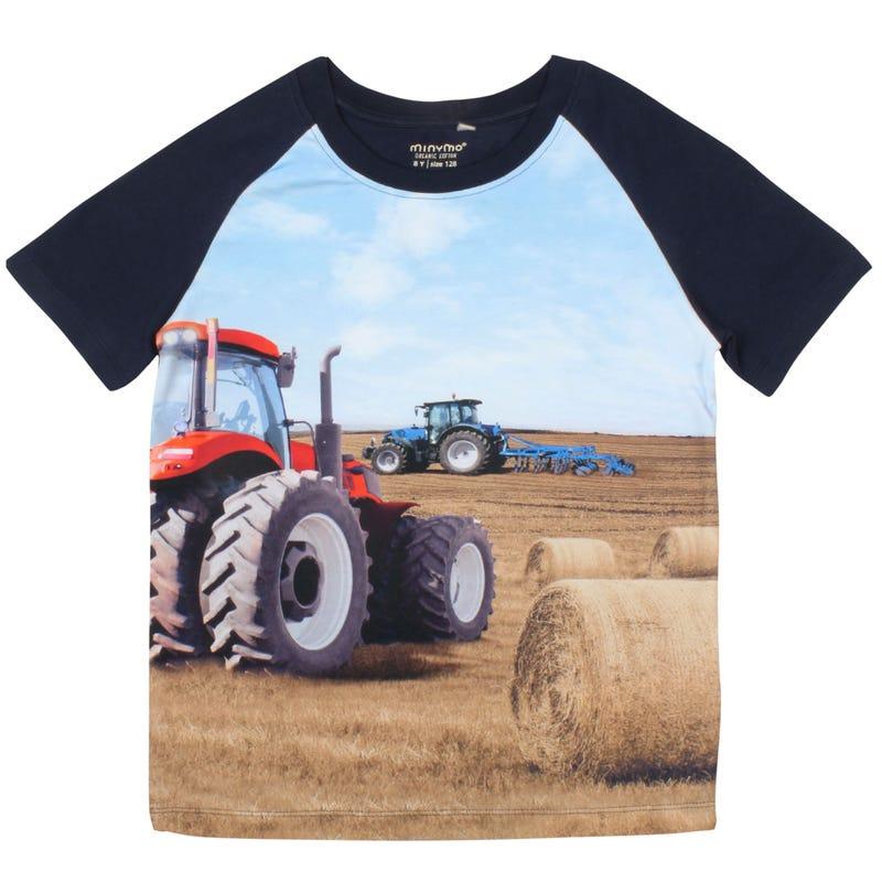 T-Shirt Tracteur Rouge 3-8ans