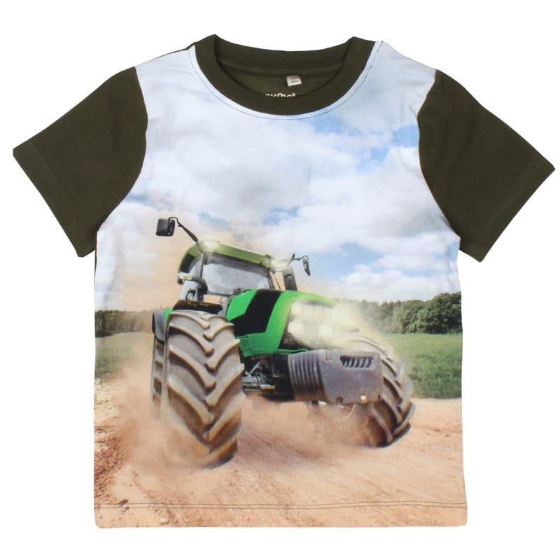 T-Shirt Tracteur Vert 3-8ans