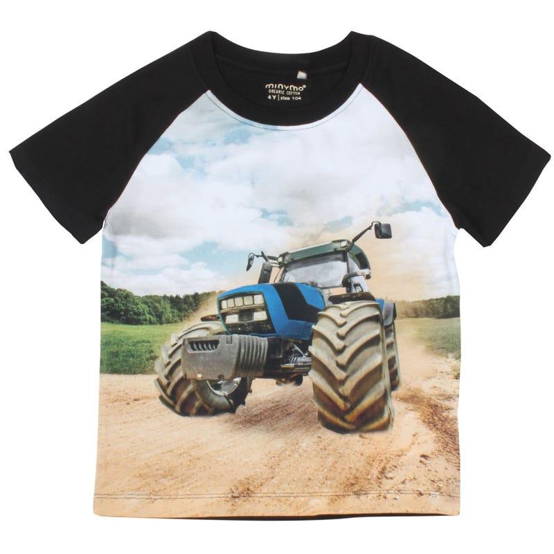 T-Shirt Tracteur Bleu 3-8ans