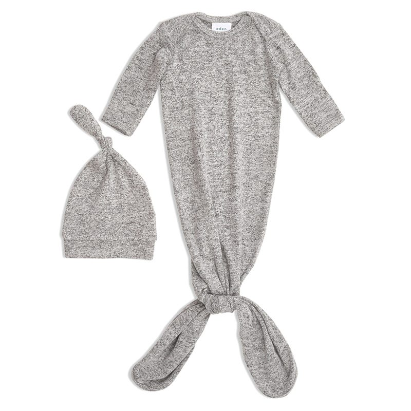 Ensemble Dormeuse + Chapeau 0-3mois - Heather Gris
