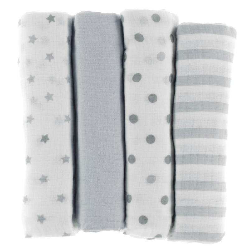 Muslin Blanket Swaddleplus Set of 4 - Dove