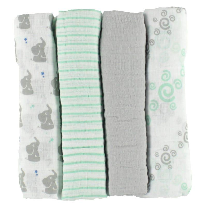 Blanket Swaddleplus Set of 4 - Babyst