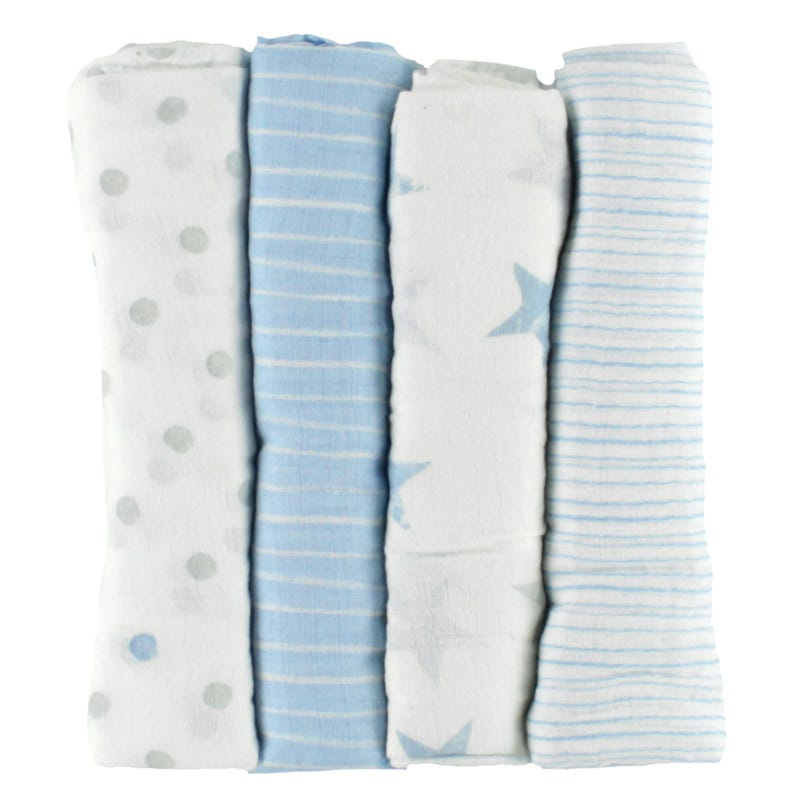Muslin Blanket Swaddleplus Set of 4 - Dapper