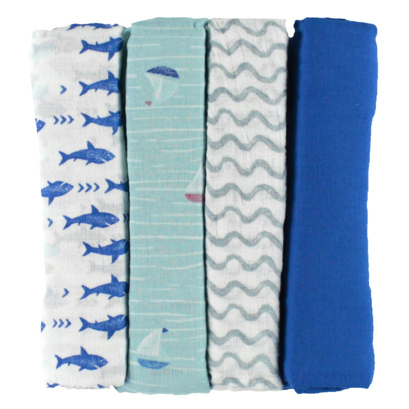 Blanket Swaddleplus Set of 4 - Waves