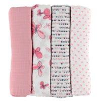 Blanket Swaddleplus Set of 4 - Pink
