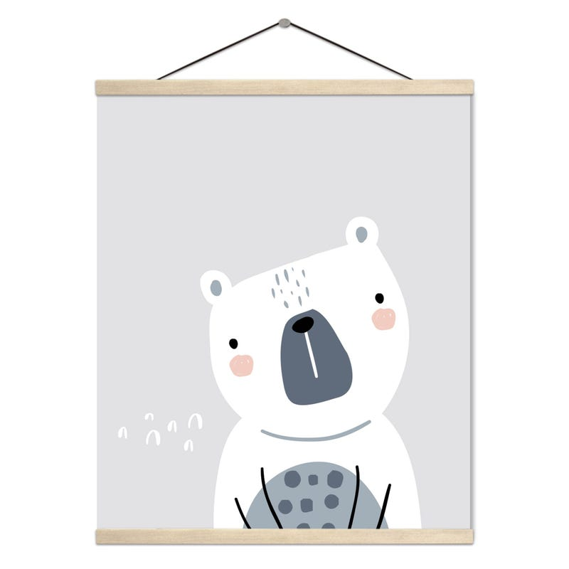 Hanging Poster - Nordic Forest Polar Bear