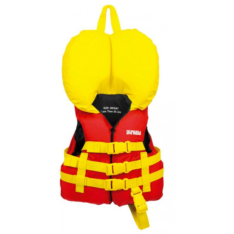 Personal Flotation Device For Child - Red/Yellow