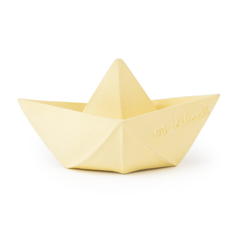 Origami Boat Bath Toy - Yellow