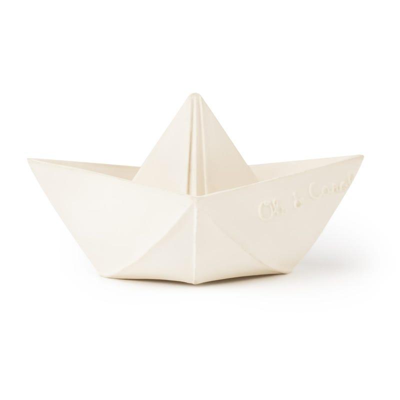 Origami Boat Bath Toy -White