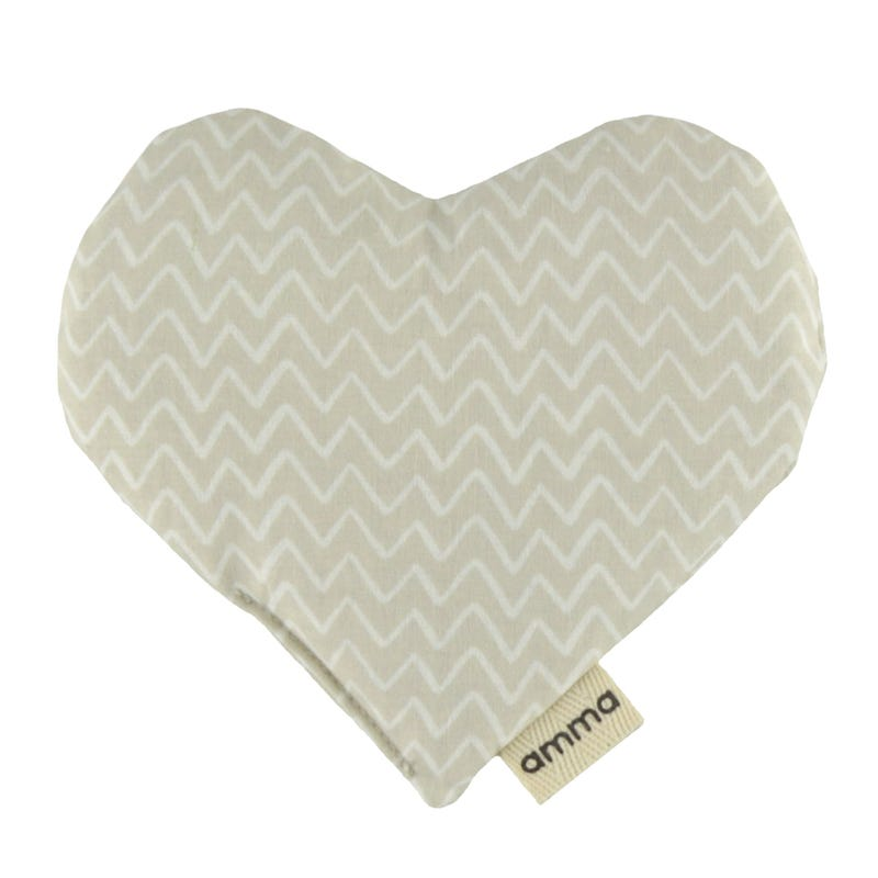 Heart Comfort Cushion - Beige Zig Zag