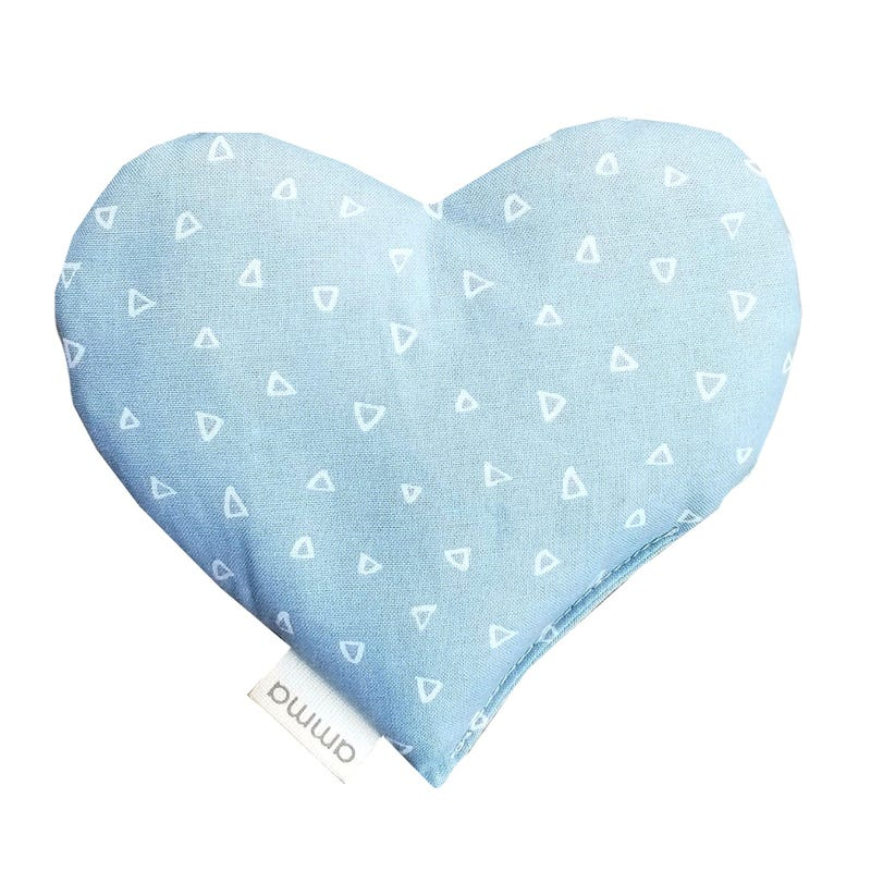 Heart Comfort Cushion - Blue Triangles