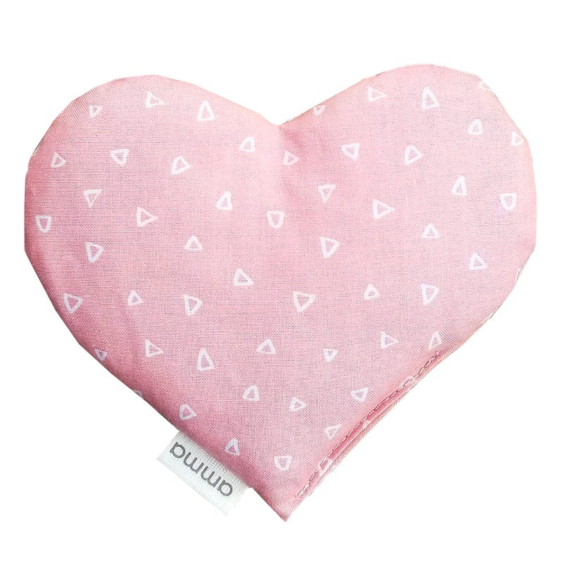 Heart Comfort Cushion - Pink Triangles