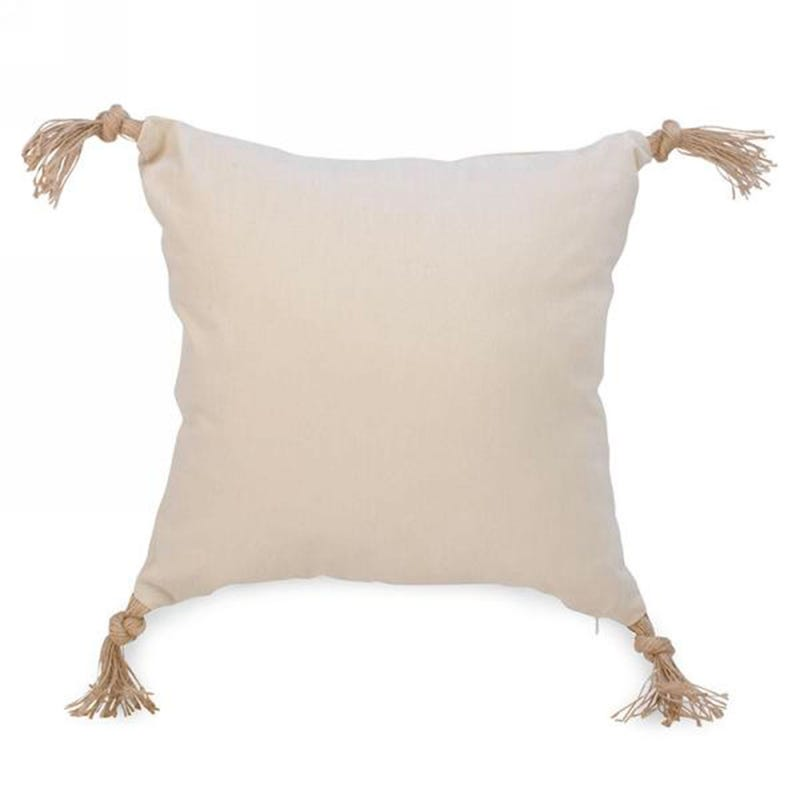 Coussin Pompons - Beige