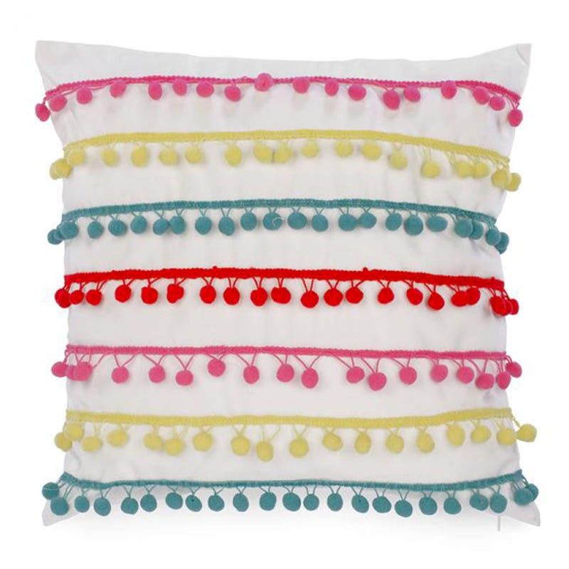 Cushion Pompons Colored