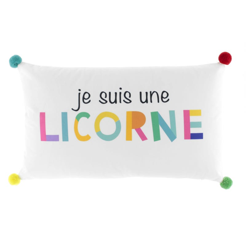 Decorative Cushion - Je Suis Une Licorne