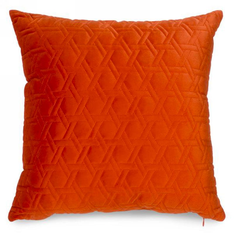 Coussin en Velours - Orange