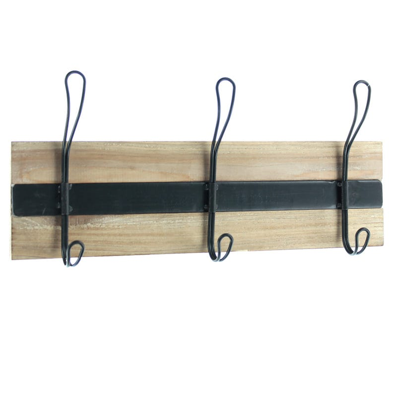 Wall Hook - Wood/Black