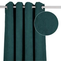 Suede Curtain - Teal