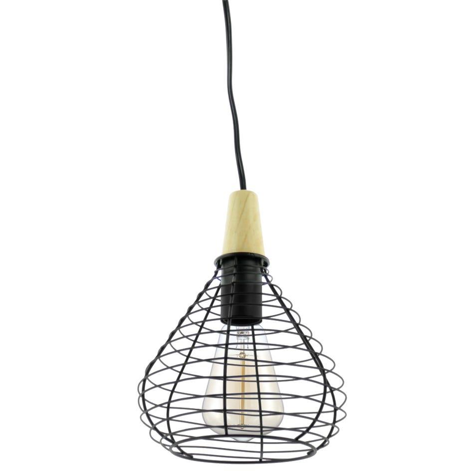 Attitudes Import Lampe Metal Noir A Suspendre Clement
