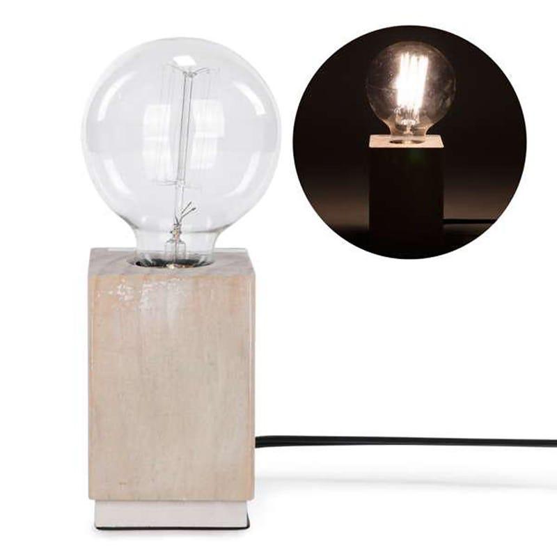 Lampe Base en Bois