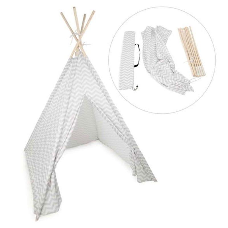 Teepee Tent - Gray Chevron