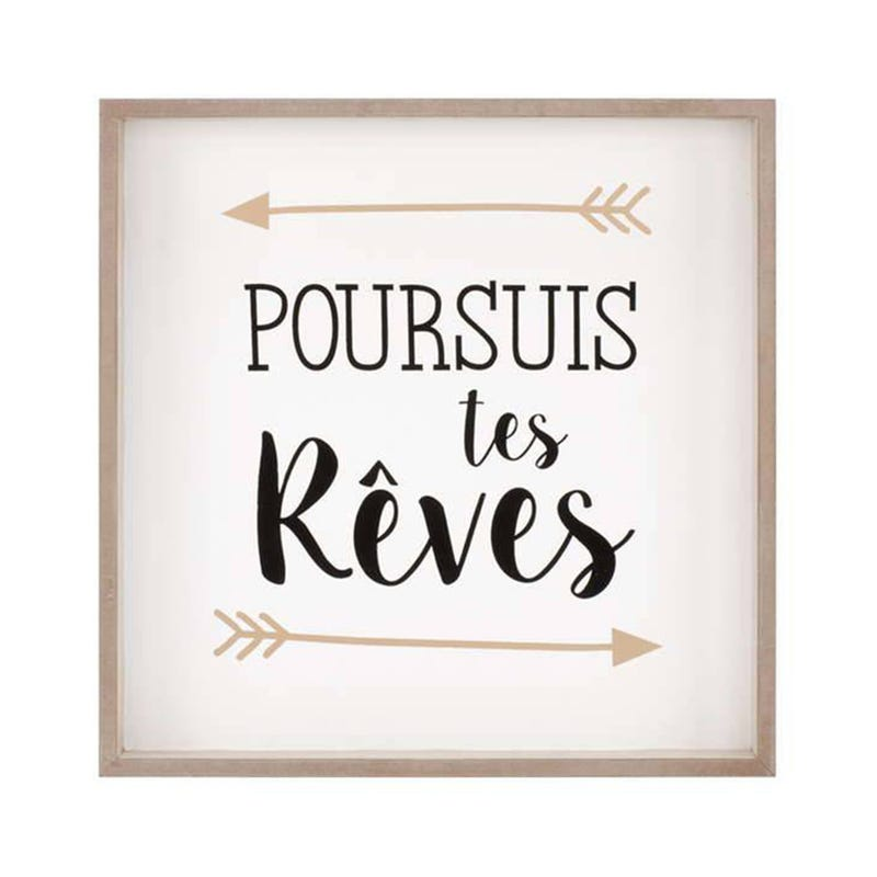 Wall Frame Poursuis Tes Reves