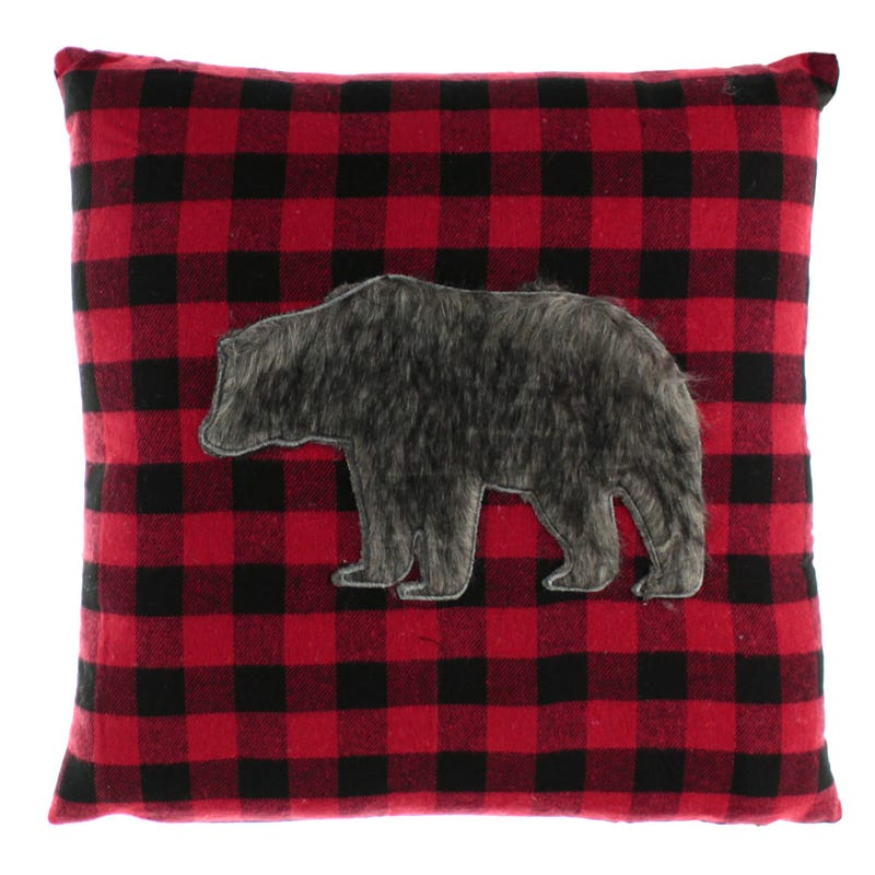 Bear Cushion - Red