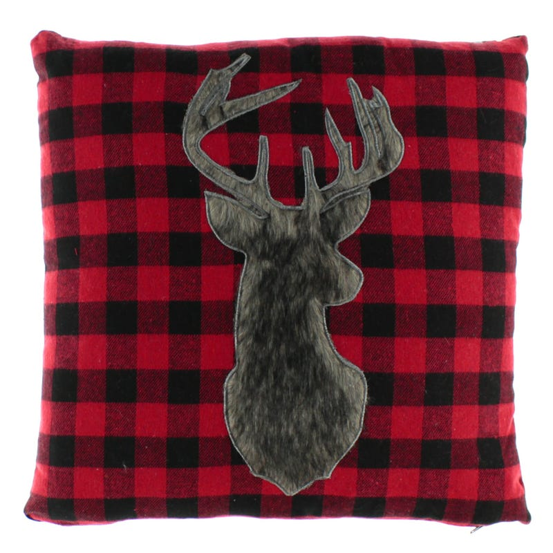 Deer Cushion - Red