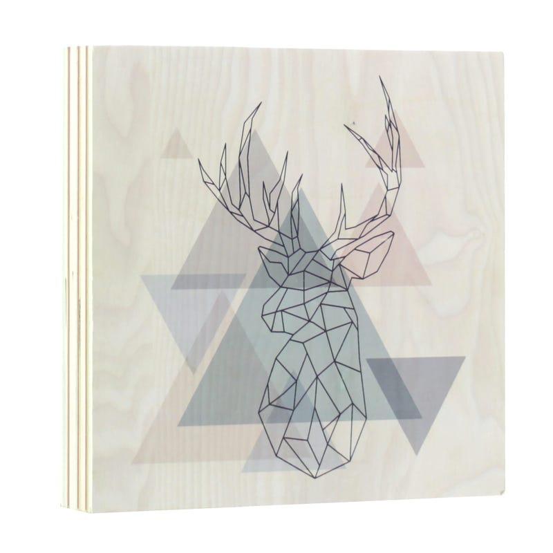 Cadre Origami Chevreuil