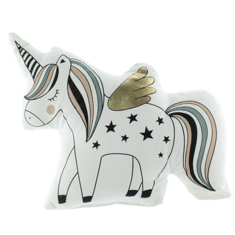 Unicorn Cushion - Gold