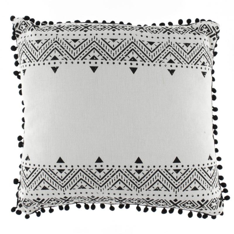 Pompon Cushion - Black
