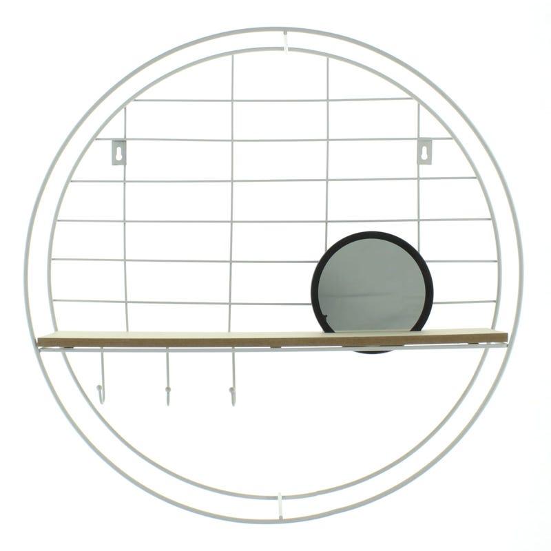 Shelf Round - White/Natural