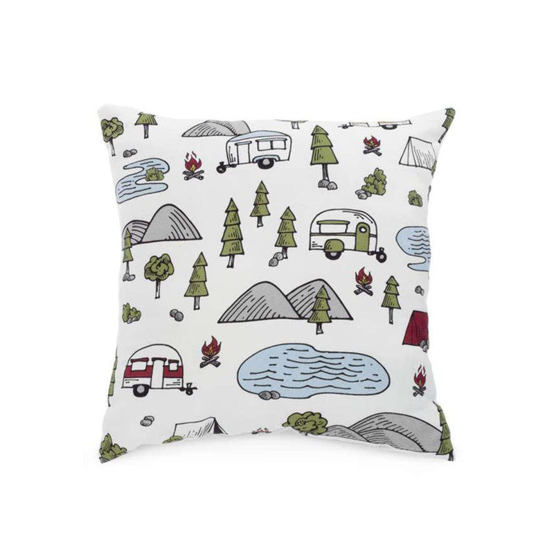 Coussin Camping Foret 12x12
