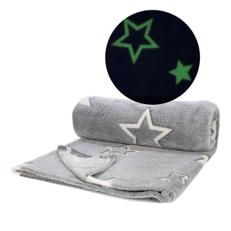 Glow In The Dark Throw - Gray