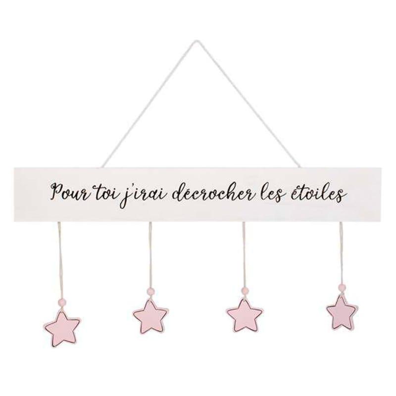 Stars Wall Art-Pink