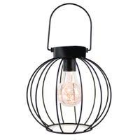 Lanterne Ronde Métal - Noir